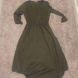 Reborn j olive midi dress small